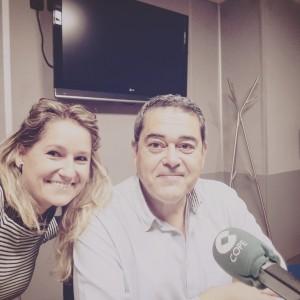 Esther Lara y Marcos Chacón celebrando el día de la música
