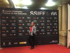 Esther Lara en la 66 Edición del Festival de Cine Internacional de San Sebastián